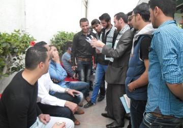  كتلة الأحرار في جامعة الأزهر تنظم مسابقة ثقافية ميدانية