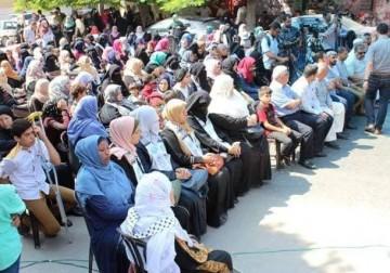 خلال مهرجان جماهيري نظمته دائرة العمل النسائي في حركة الأحرار بعنوان أسرانا الأوفياء توحدنا الدماء والشهداء
